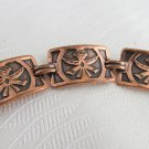 "Vintage Copper Southwest Tribal Dancer Panel Link 7.75"" Bracelet Swivel Clasp"