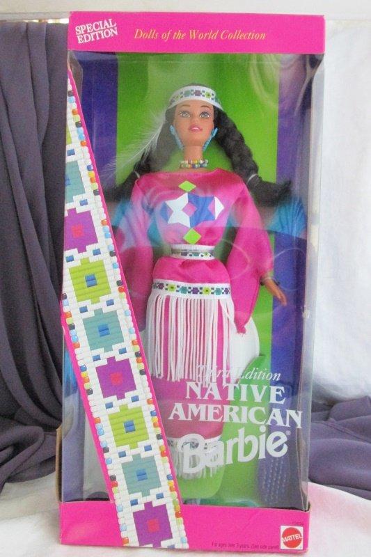 Native American Barbie Doll 1994 Vintage Mattel 3rd Ed Dolls World Collect NRFB
