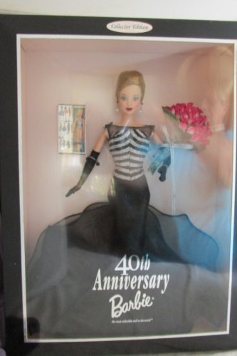 40th Anniversary Barbie Doll 40 Red Roses 1999 Vintage Mattel Collector Ed NRFB