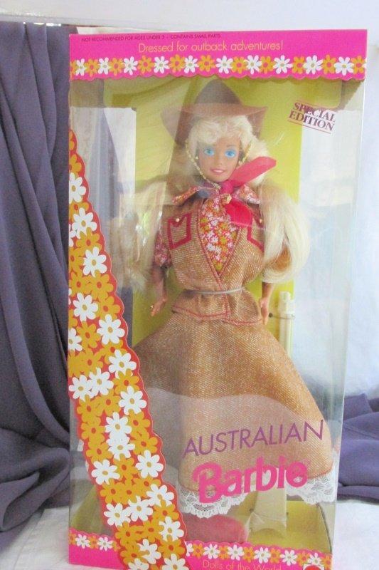 Australian Barbie Doll 1992 Vintage Mattel Dolls of the World Collection NRFB