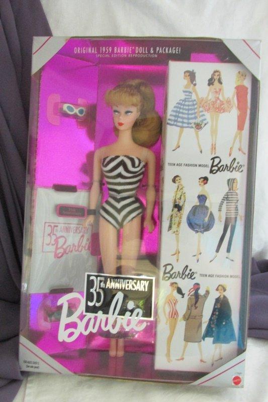 35th Anniversary Barbie Doll Blond 1993 Vintage Mattel Special Edition NRFB