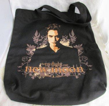 New Moon Twilight Saga Edward Cullen Pattinson Canvas Tote Book Bag Shopping