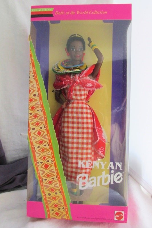 Kenya Barbie Doll 1993 Vintage Mattel Dolls of the World Collection NRFB