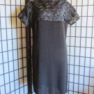 1960s Vintage Handmade Little Black Dress Sexy Sheer Black Lace Size 14