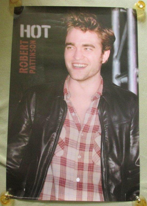 HOT Sexy Robert Pattinson 22x34 Poster Leather Jacket Plaid Shirt Twilight Saga