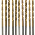 7/64'' HIGH SPEED STEEL TITANIUM NITRIDE DRILL BITS (10 PACK)