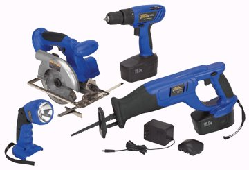 18 VOLT, CORDLESS 4 TOOL COMBO PACK