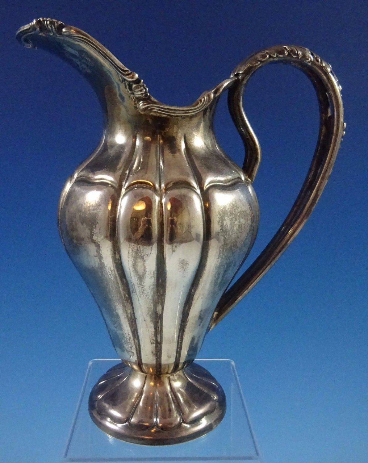 """Camusso Sterling Silver Water Pitcher 10 1/4"""" X 8 1/2"""" (#1243)"""
