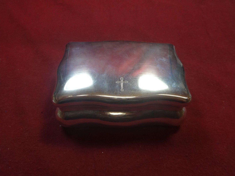 "Pattern Unknown by Buccellati Sterling Silver Jewelry Box 6"" X 4 1/4"" X 2 5/8"""