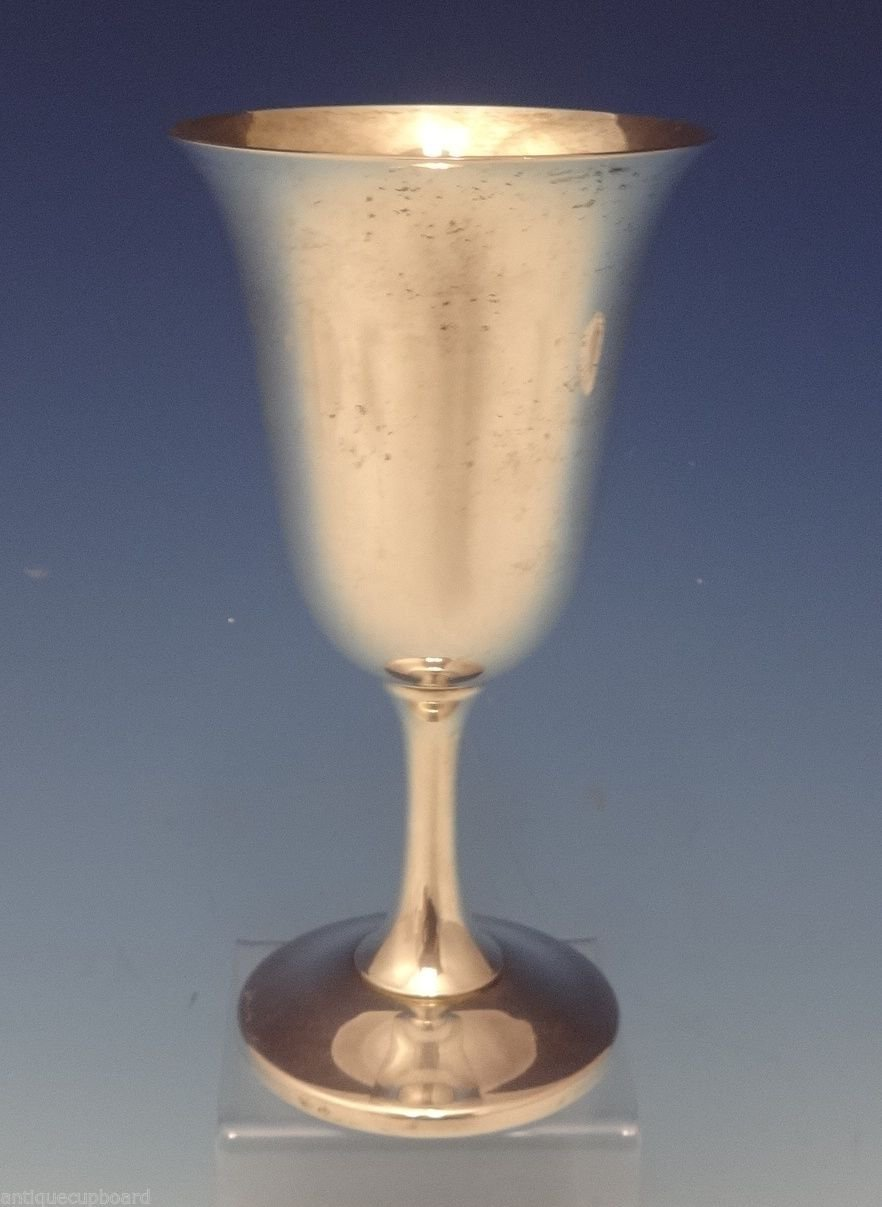 """Wallace Sterling Silver Water Goblet #14 6 3/4"""" Tall (#0728)"""