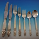 Norse by International Sterling Silver Flatware Set for 12 Dinner Service 89 Pcs