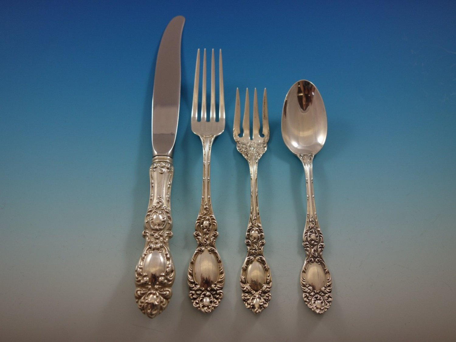 Lucerne by Wallace Sterling Silver Flatware Set for 12 Service 53 Pieces