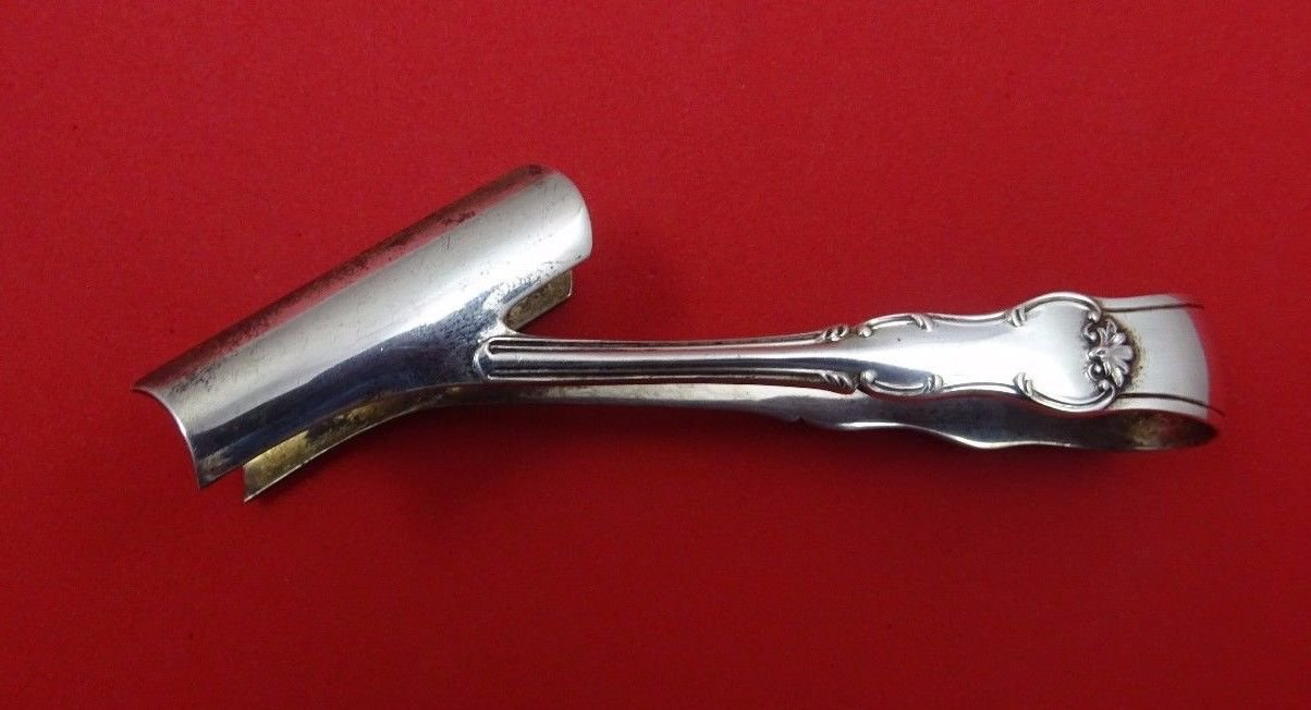 W. Gibson and L. Langman English Sterling Silver Asparagus Tong 3 1/2""