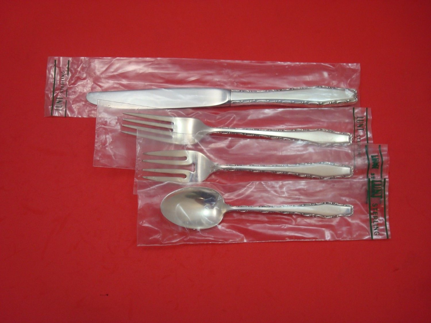 Rapallo by Lunt Sterling Silver Regular Size Place Setting(s) 4pc New