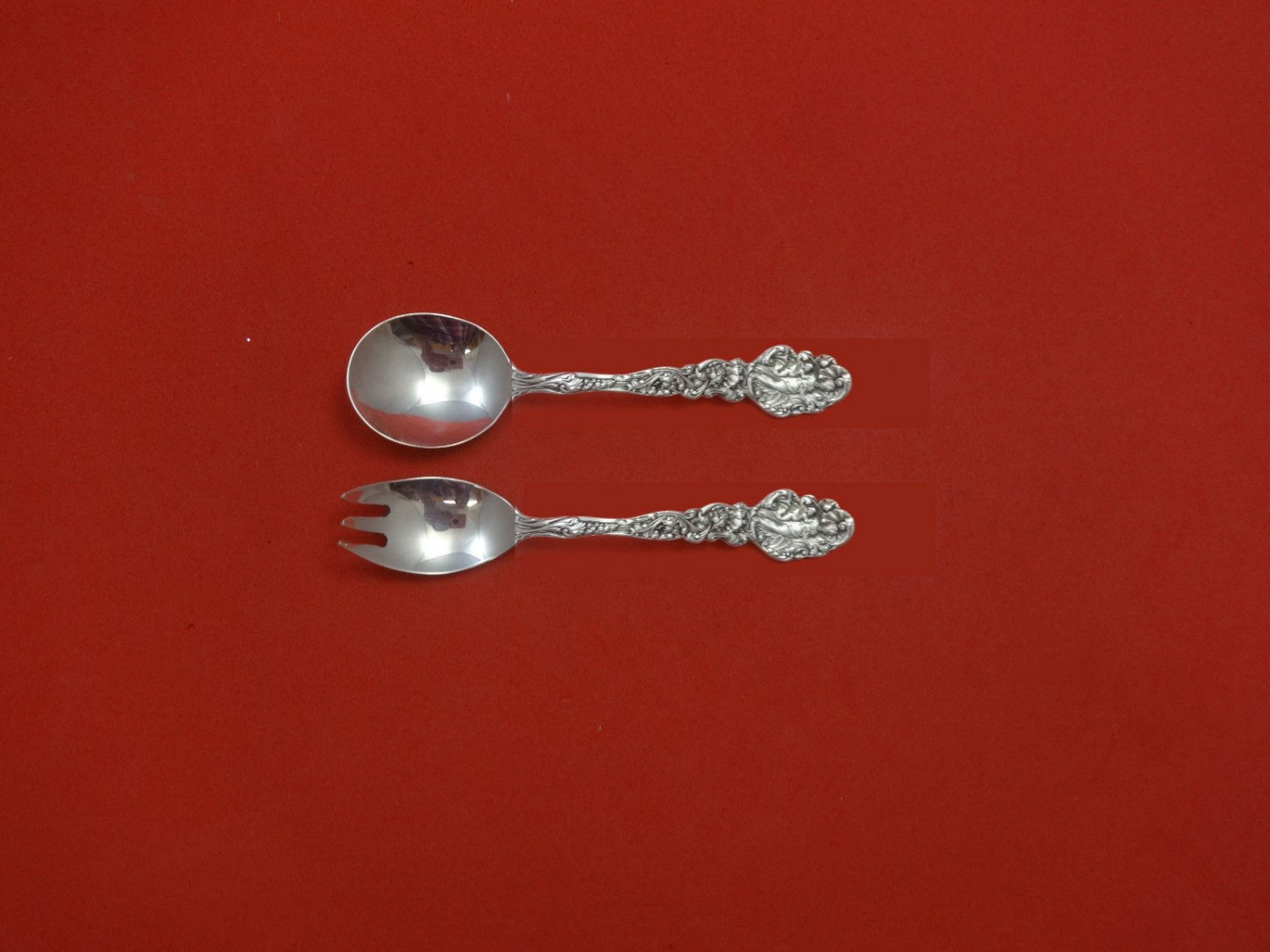 """Versailles by Gorham Sterling Silver Baby Child Set 2pc Custom Made 4 3/4"""""""