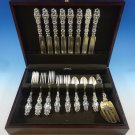 Lily by Whiting Sterling Silver Flatware Set For 8 Service 34 Pieces Dinner Size