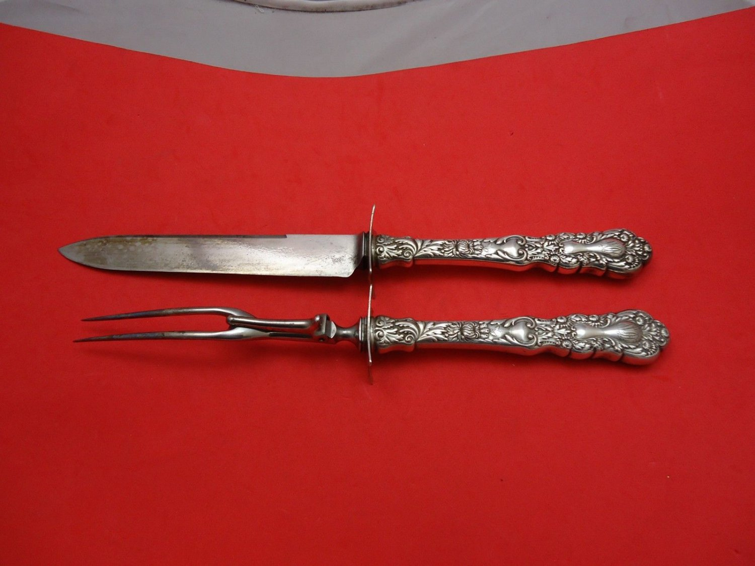 """Imperial Chrysanthemum by Gorham Sterling Silver Roast Carving Set 2pc 12 1/4"""""""
