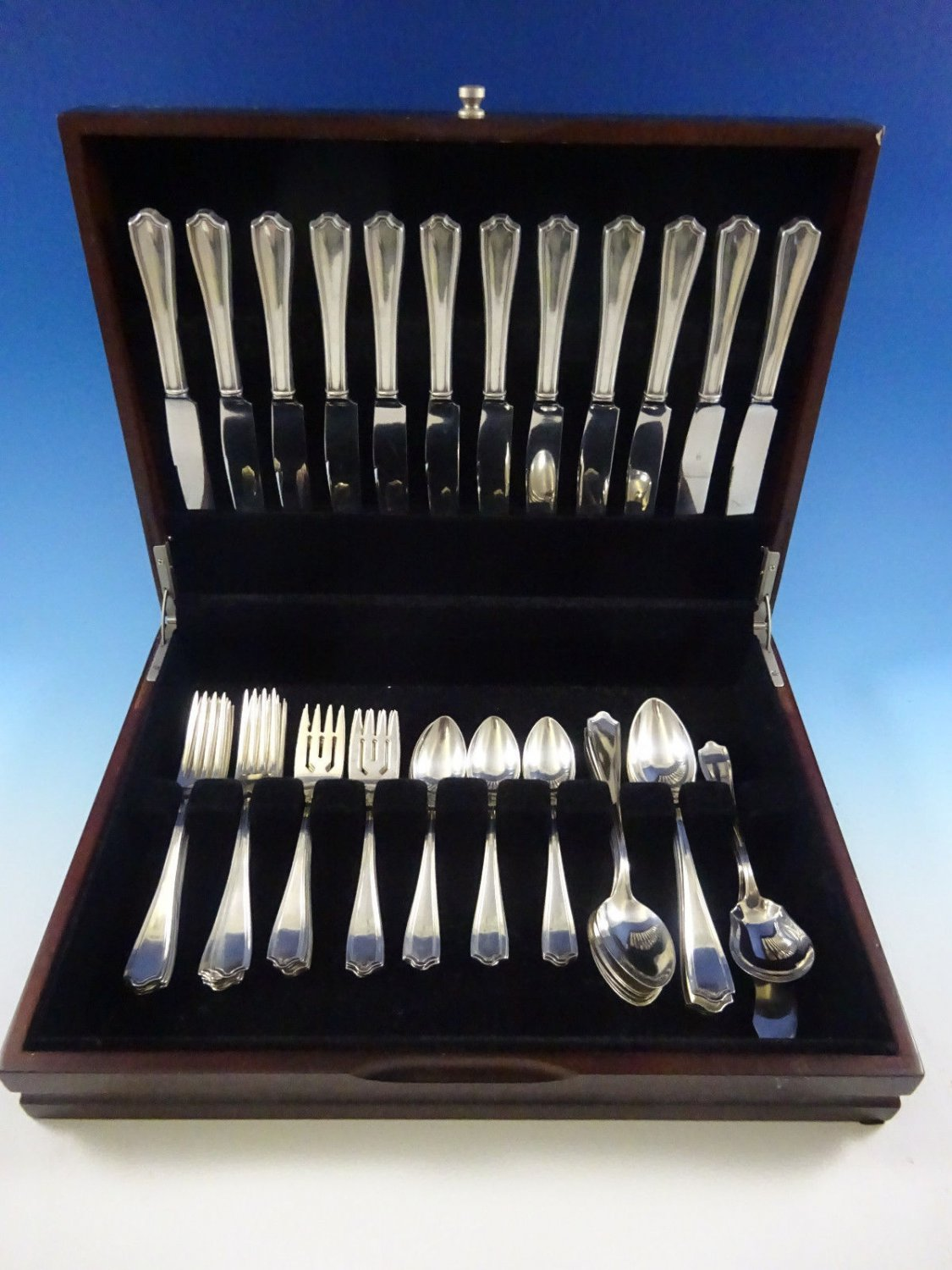 Maryland by Alvin Sterling Silver Flatware Set For 12 Service 62 Pieces