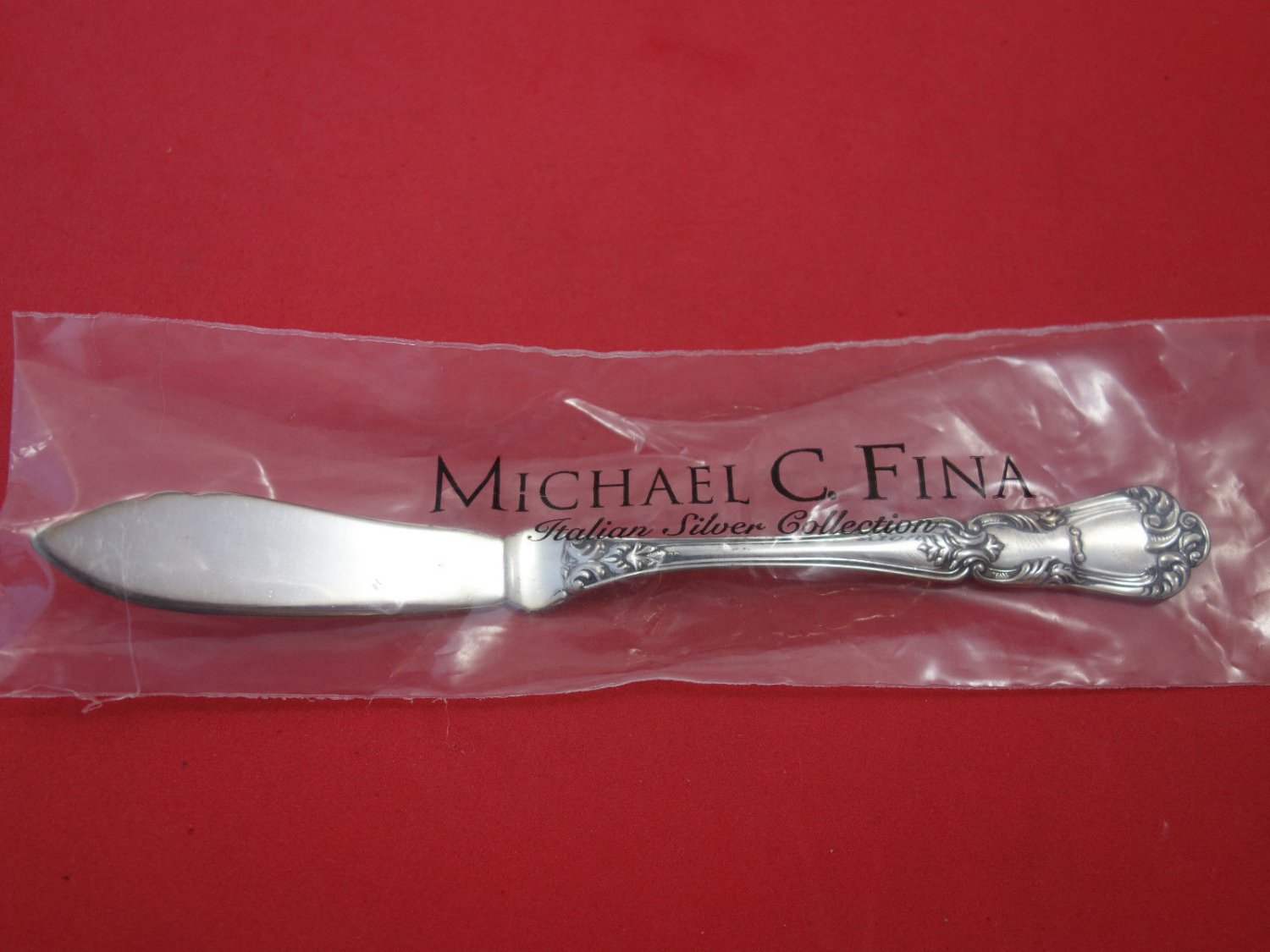 """Barocco By Schiavon Sterling Silver Butter Spreader Flat Handle 6 1/2"""" New"""