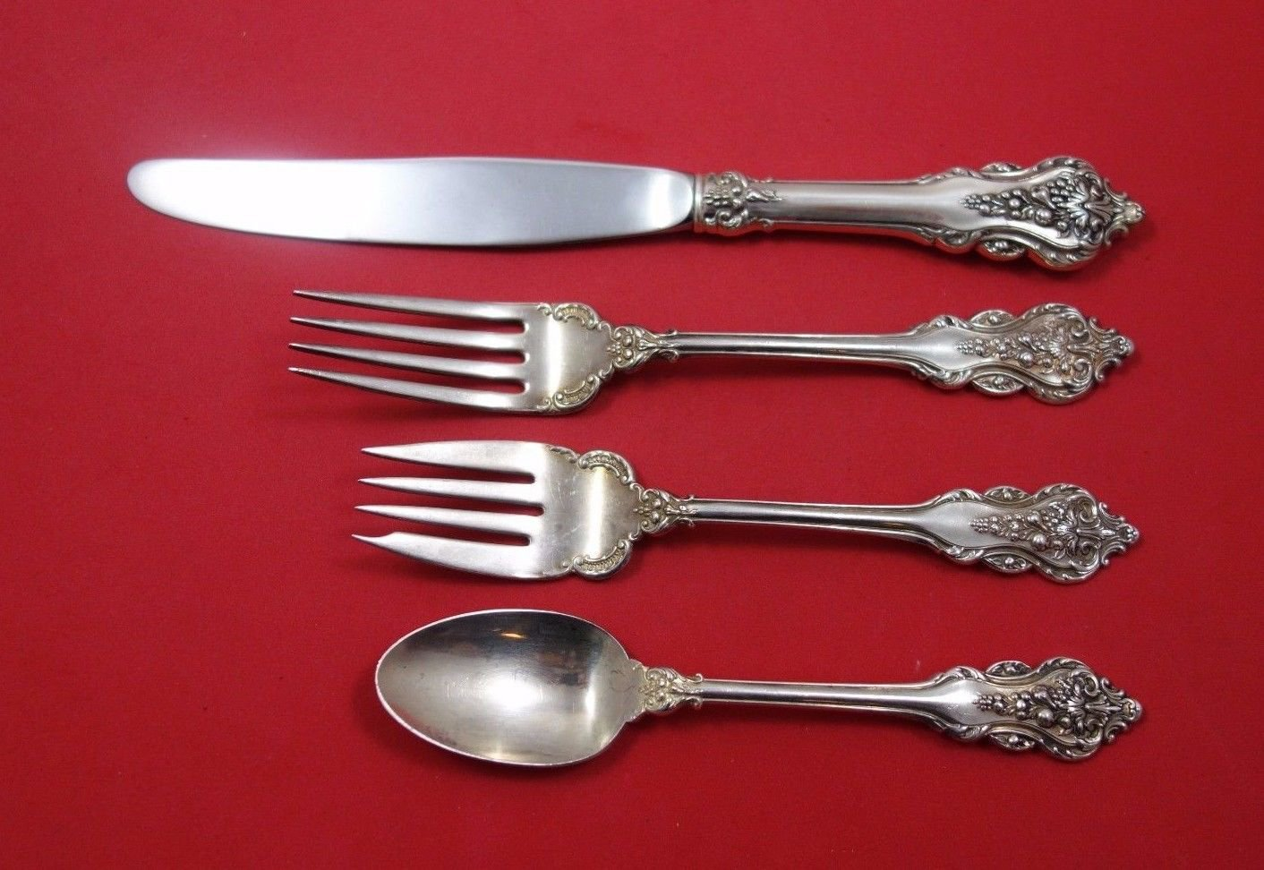 Donatello by Amton Sterling Silver Regular Size Place Setting(s) 4pc