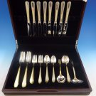 Golden Winslow by Kirk Sterling Silver Flatware Service For 8 Set 41 Pcs Dinner