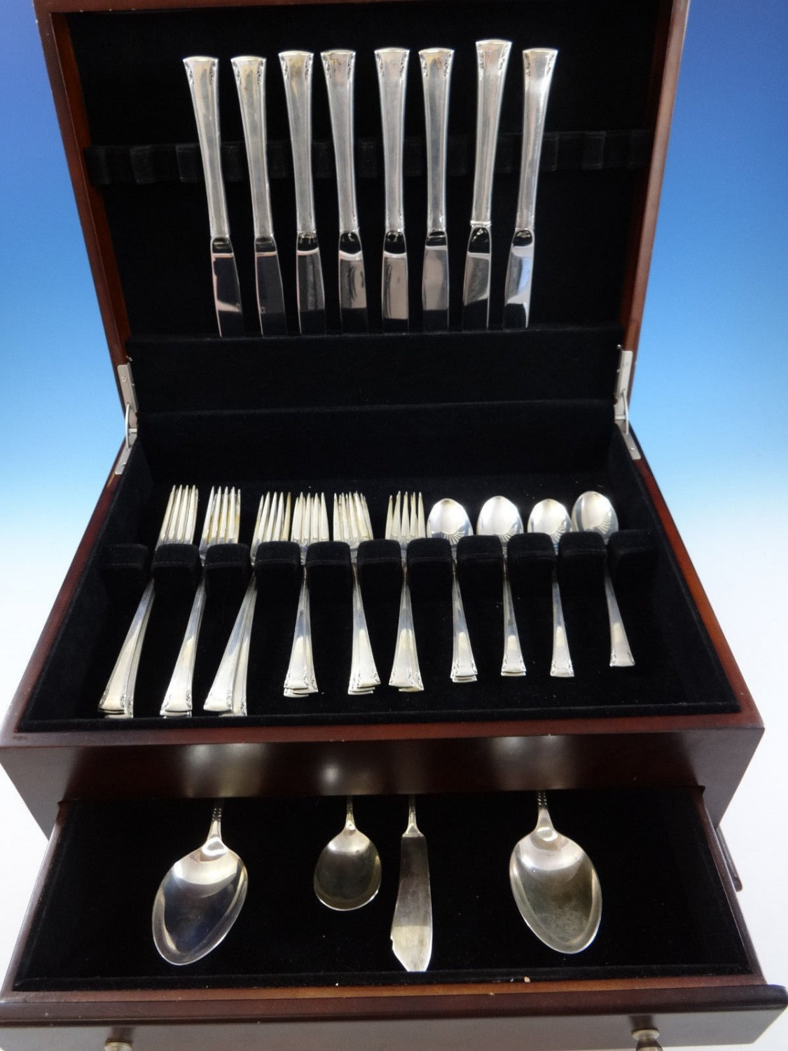 Serenity by International Sterling Silver Flatware Service For 8 Set 36 Pieces