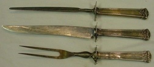 """Trianon by International Sterling Silver Steak Carving Set 3pc 10 1/2"""""""