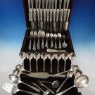 """Louis XIV by Towle Sterling Silver Flatware Set For 12 Service 142 Pcs """"M"""" Mono"""