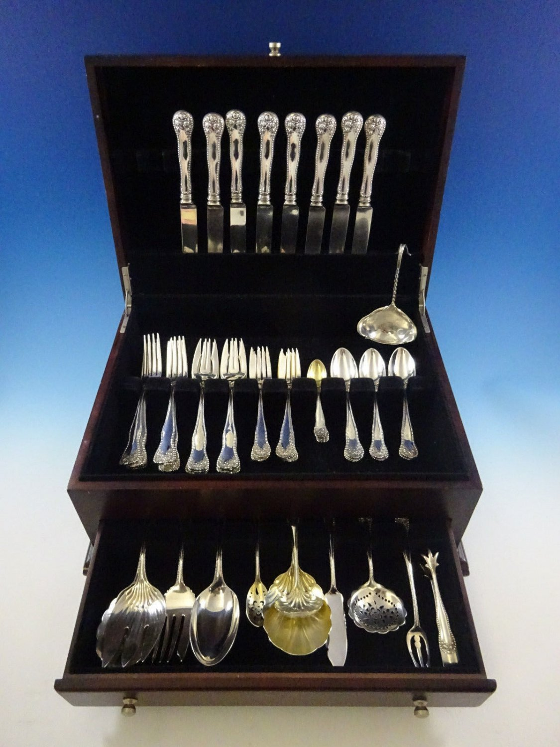 Lancaster by Gorham Sterling Silver Flatware Set For 8 Service 60 Pieces