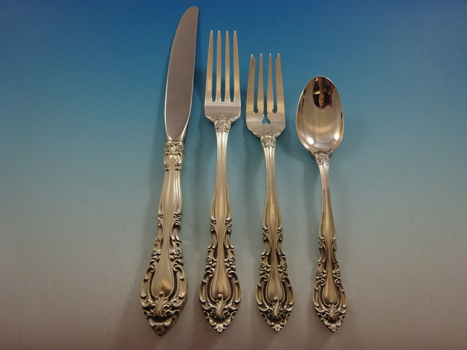 Vivaldi by Alvin Sterling Silver Flatware Set For 12 Service 48 Pieces