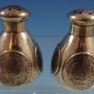 Shreve Sterling Silver Salt and Pepper Shakers 2pc Set with Coins (#1472)