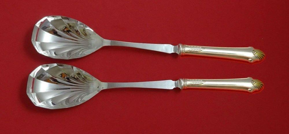 Edgemont Gold by Gorham Sterling Silver Salad Serving Set 2pc HH Fluted Custom