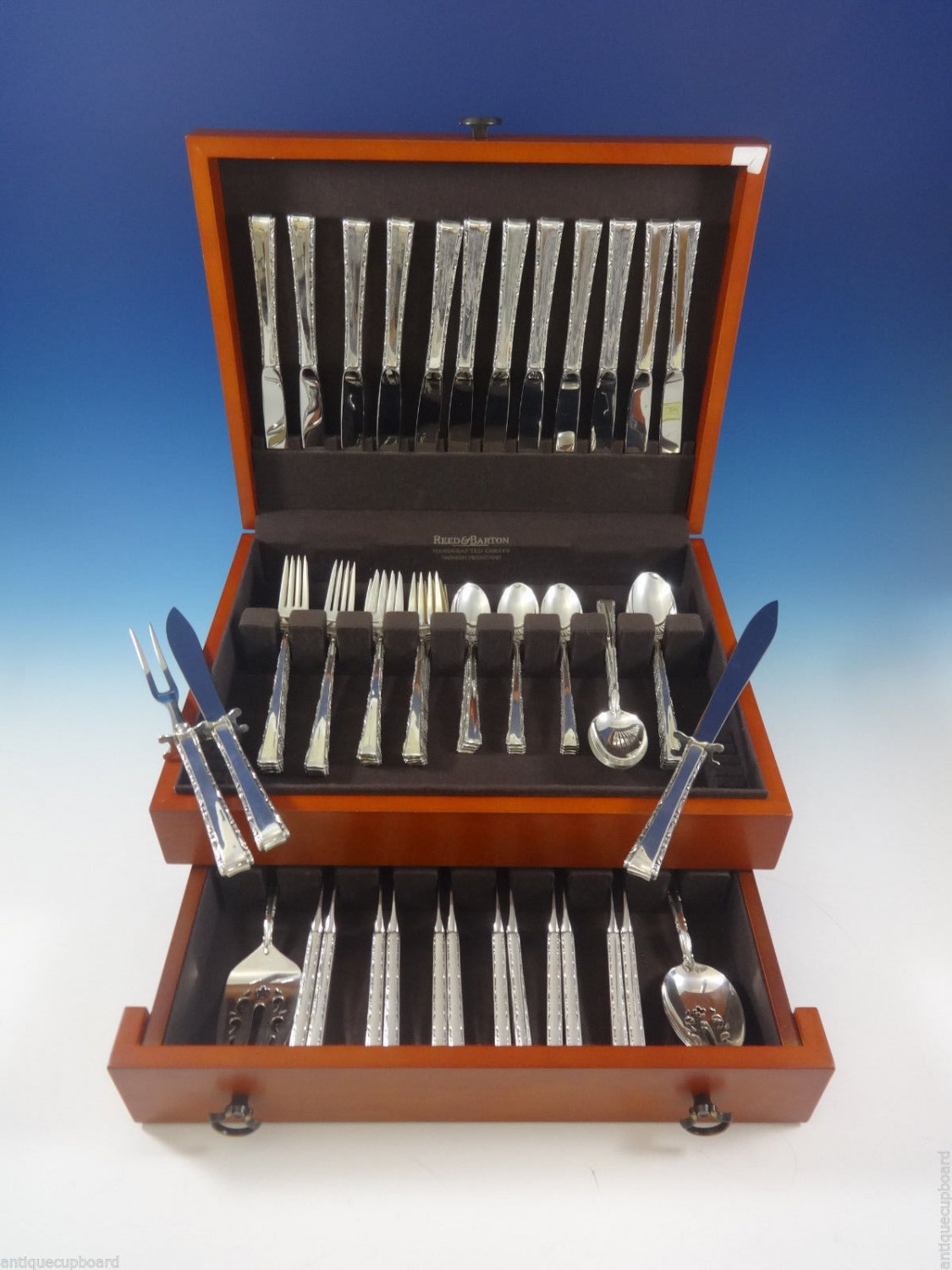 Madrigal by Lunt Sterling Silver Flatware Service For 12 Set 78 Pieces
