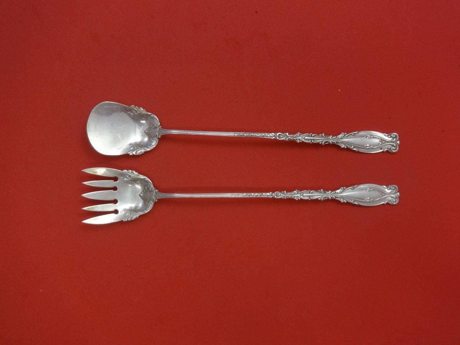 Josephine by Frank Whiting Sterling Silver Lettuce Set 2pc 8 1/4""