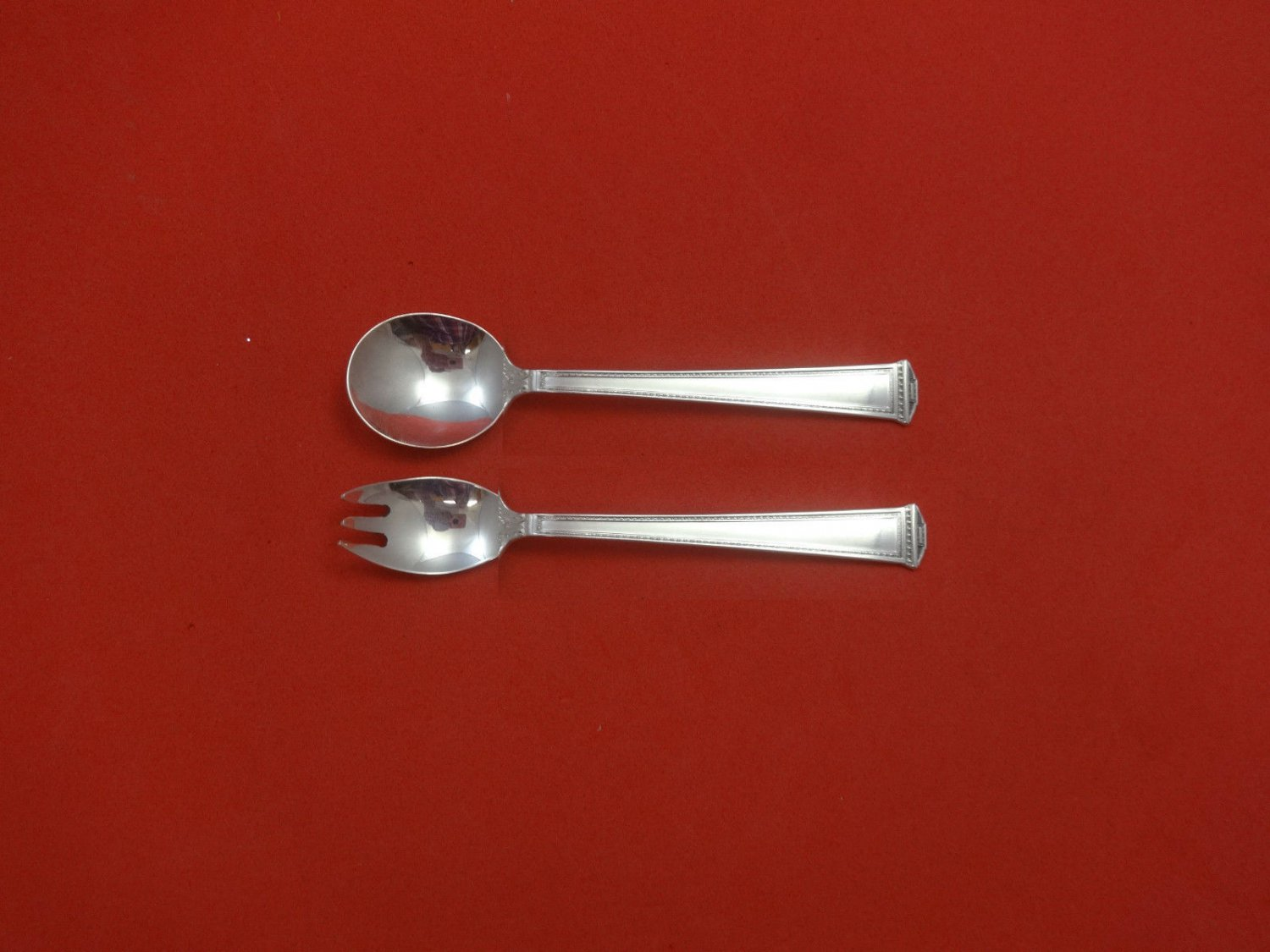 """Pantheon by International Sterling Silver Baby Child Set 2pc 4 3/4"""" Custom Made"""