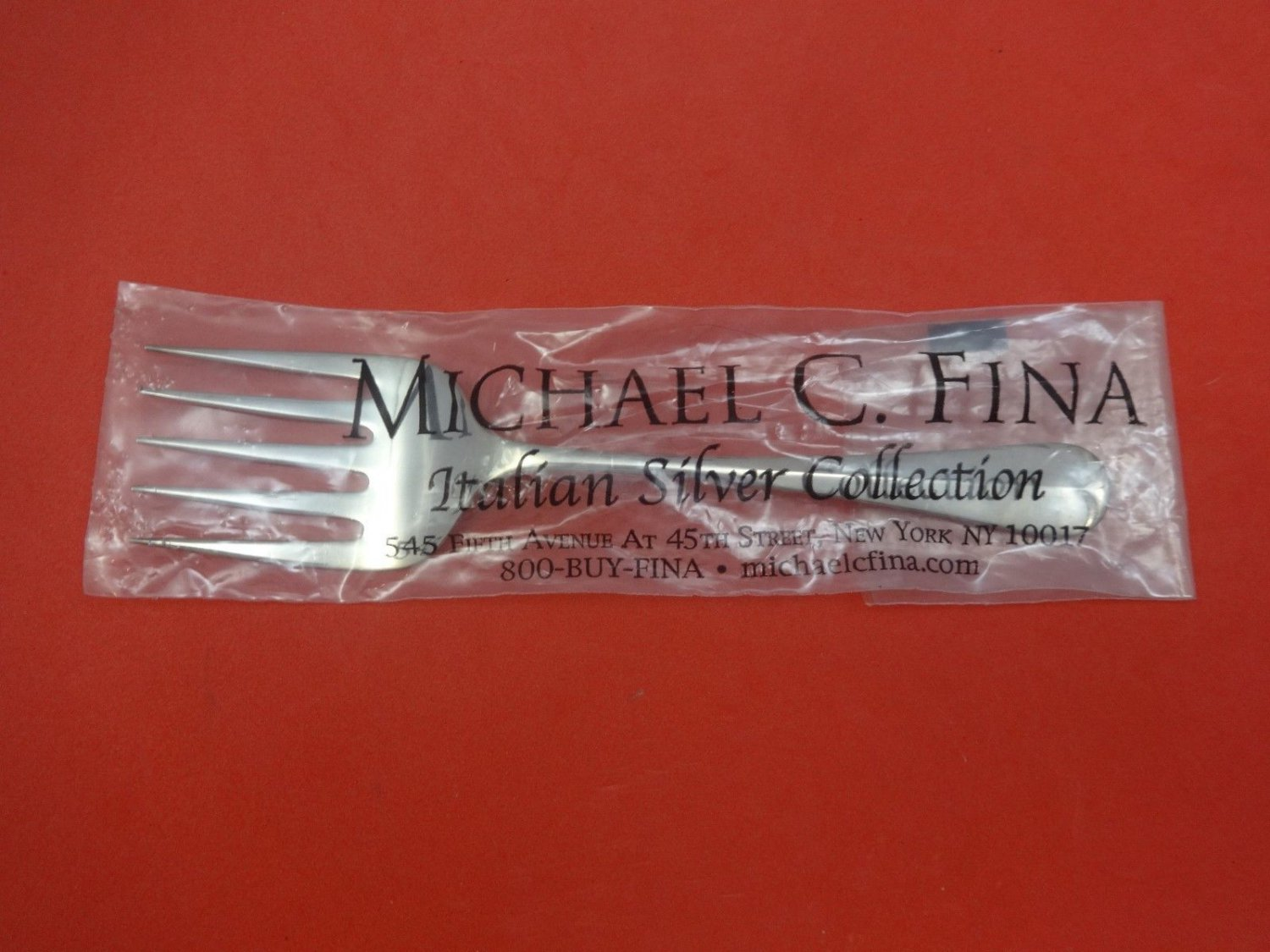 """Rattail by Carrs Sterling Silver Cold Meat Fork 5-Tine 8 3/4"""" New"""