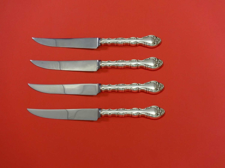 "Impresario by Oneida Sterling Silver Steak Knife Set 4pc HHWS  Custom 8 1/2"""