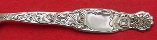Heraldic by Whiting Sterling Silver Spinach Fork Custom Made 7 1/2""