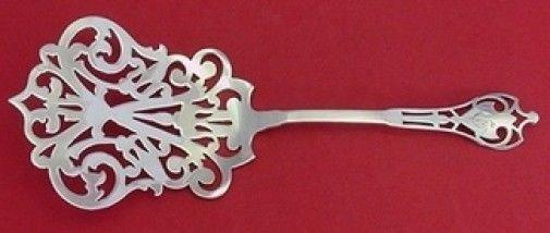 """Putnam by Watson Sterling Silver Waffle Server Fancy Pierced 8 1/4"""""""
