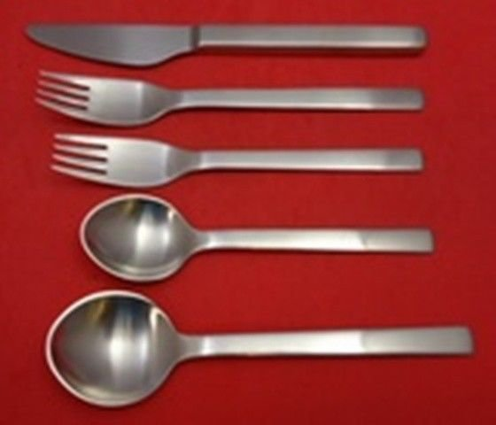 New York Matte by Georg Jensen Stainless Dinner Size Place Setting(s) 5pc