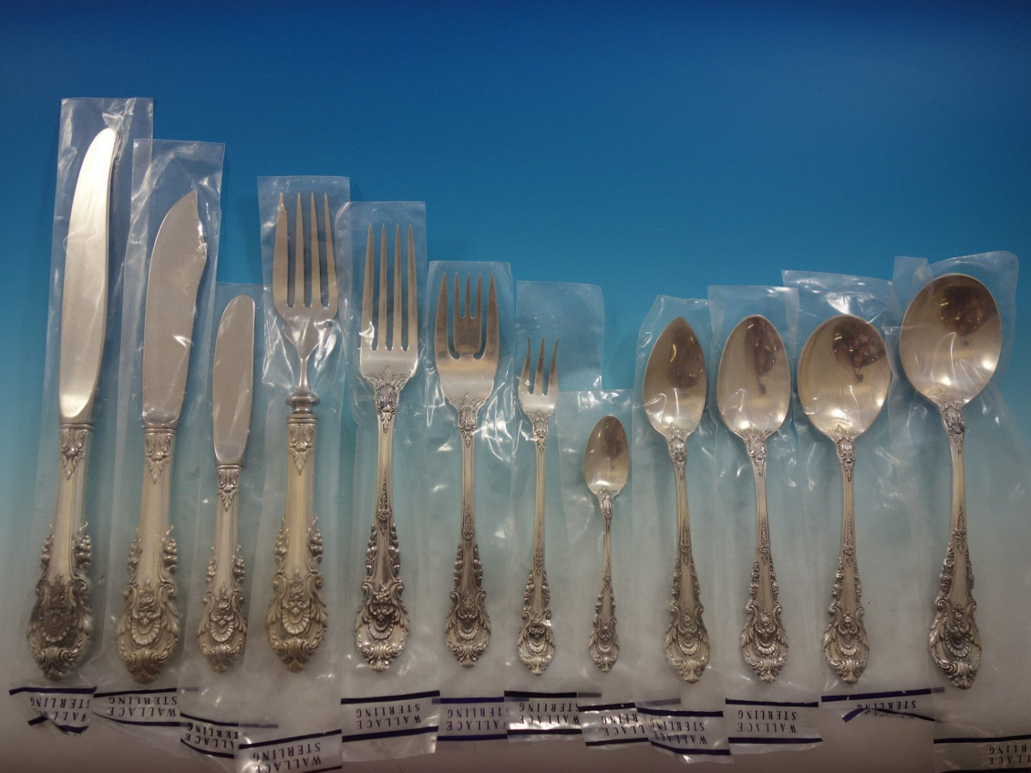 Sir Christopher by Wallace Sterling Silver Flatware Service Set 159 Pieces New