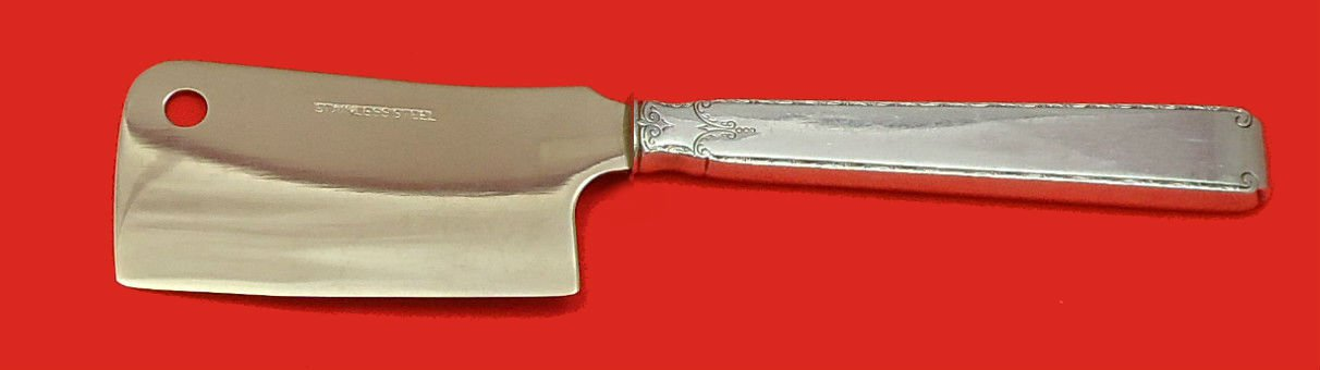 Old Lace by Towle Sterling Silver Cheese Cleaver HHWS  Custom Made 6 1/2""