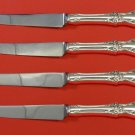 Afterglow by Oneida Sterling Silver Steak Knife Set 4pc HHWS  Custom Made 8 1/2""
