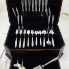Rose Solitaire by Towle Sterling Silver Flatware Set For 8 Service 51 Pieces