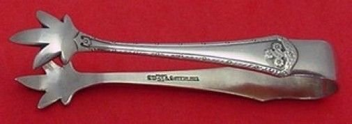 Carmel by Wallace Sterling Silver Sugar Tong 3 1/8""