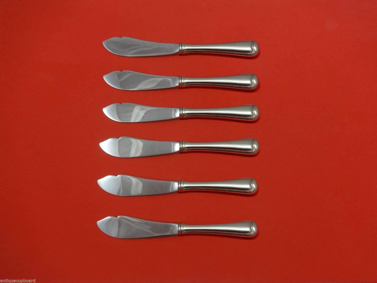 """Old French by Gorham Sterling Silver Trout Knife Set 6pc. HHWS  Custom 7 1/2"""""""