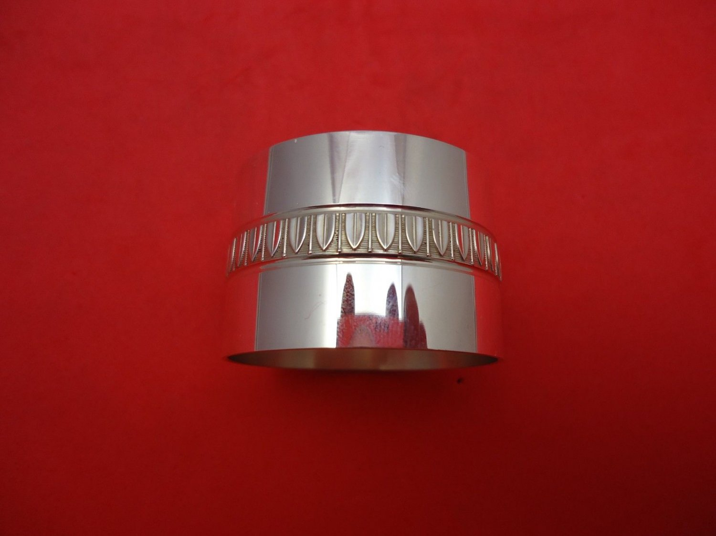 "Malmaison by Christofle Sterling Silver Napkin Ring Original Wide 1 1/8"""