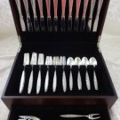 Lace Point by Lunt Sterling Silver Flatware Set For 12 Service 51 Pieces