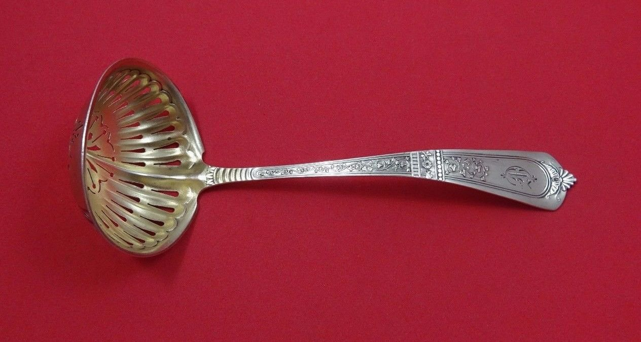 """Douglas by Gorham Sterling Silver Sugar Sifter Gold Washed 6 3/4"""""""
