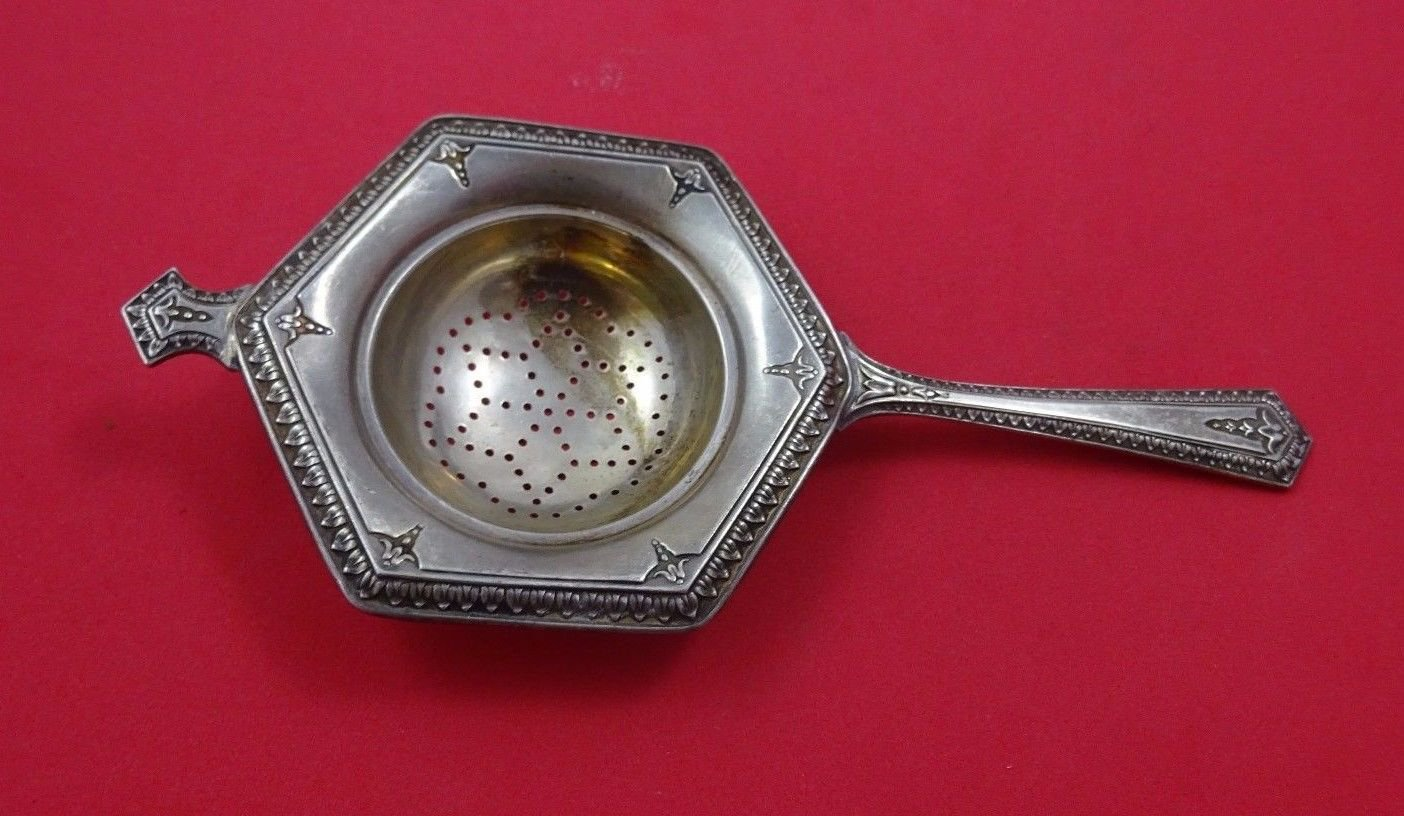 """Wallace Sterling Silver Tea Strainer #3224 6 3/4"""""""